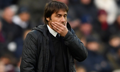 Chelsea boss Antonio Conte reacts to West Ham defeat