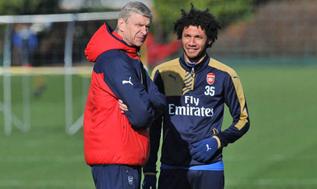 Arsene Wenger and Mohamed Elneny (Reuters)