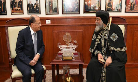 Aoun and Pope Tawadros II
