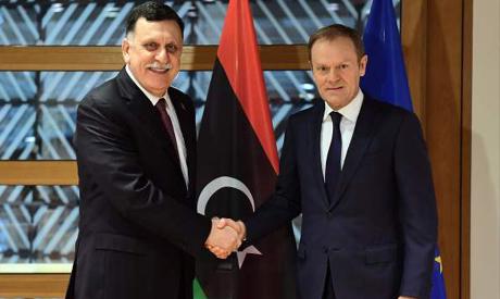 Fayez al-Sarraj & Donald Tusk