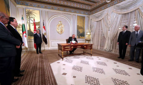Egypt FM Shoukry in Tunisia