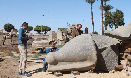 Egypt's antiquities ministry restores colossus of Ramsess II at Karnak Temples - Ancient Egypt - Heritage