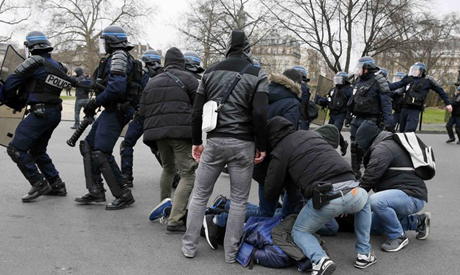 French anti-police demonstration