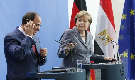 El-Sisi and Merkel