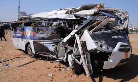 A file photo of a bus accident on an Egyptian road (photo: Reuters)