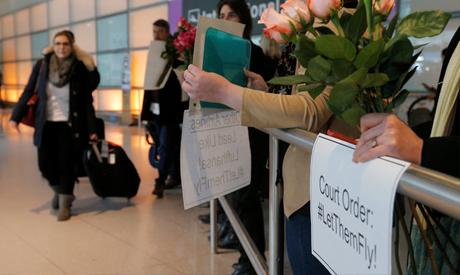 Anti-travel ban protests