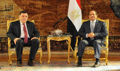 El-Sisi and Al-Sarraj