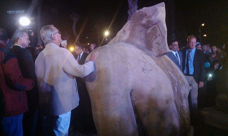 The statue at the Egyptian museum in Cairo