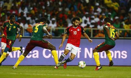 Mohamed Salah in action with Cameroon (Reuters)