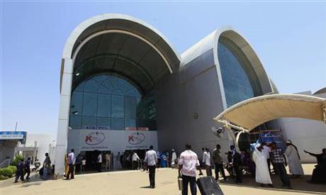 Passengers arrive at Khartoum