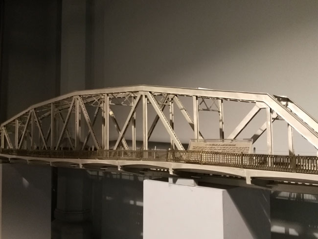 Model of a fixed span of the bridge over the nile of Edfina