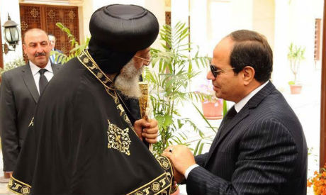 El-Sisi and Pope Tawadros II