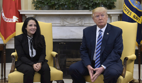 Aya Hegazi and Trump