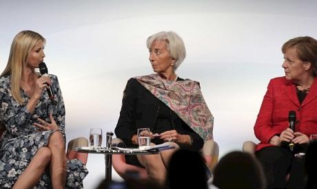 Ivanka Trump, Lagarde & Merkel