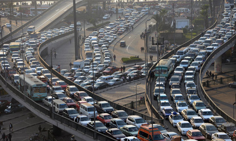 Heavy Traffic in Cairo (Reuters)