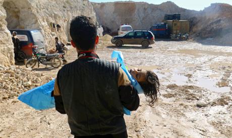 Khan Sheikhoun in rebel-held Idlib