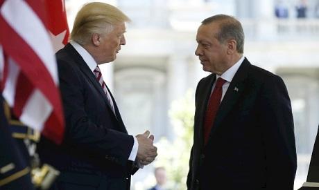 """Trump and Erdogan """"Reuters"""""""