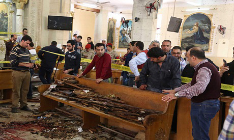 Egypt refers militants to military trial over church attacks