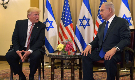 US President Donald Trump (L) and Israel