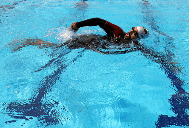 PHOTO GALLERY: Egyptian becomes first amputee to swim across Red Sea Gulf
