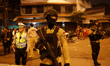 Two blasts at transport terminal in Indonesian capital, casualties