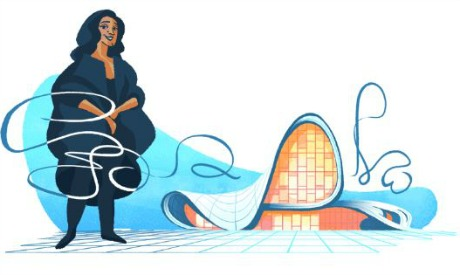 Google Doodle For Zaha Hadid, Iraqi-Born British Architect