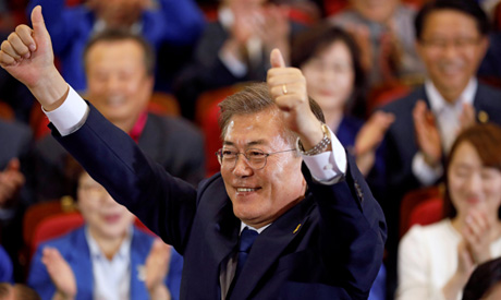 Moon Jae-in, the presidential candidate of the Democratic Party of Korea (Reuters)
