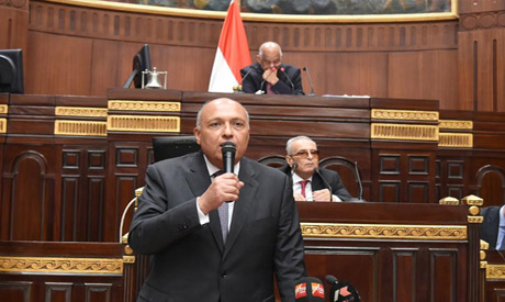 Sameh Shoukry in the parliament