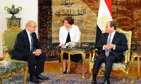Sisi and French FM