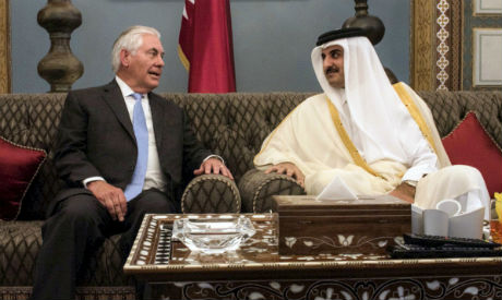Tillerson and Qatari Emir Tamim