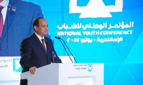 El-Sisi at Youth Conference