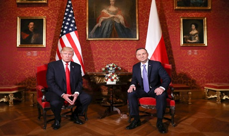 Trump looks for friendlier European welcome in Poland
