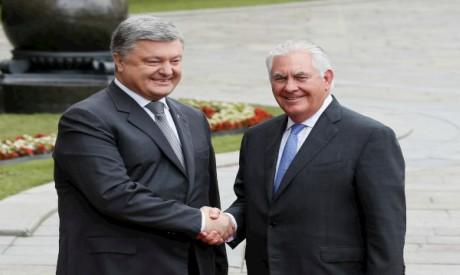 Poroshenko and Tillerson