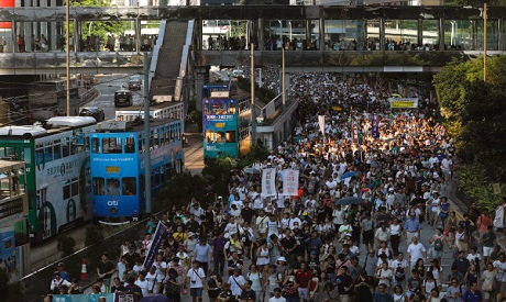 Hong Kong demonstrators