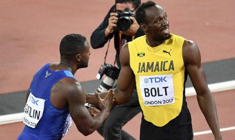 Justin Gatlin and Bolt