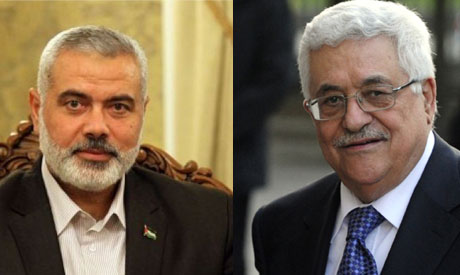Ismail Haniya and Mahmoud Abbas