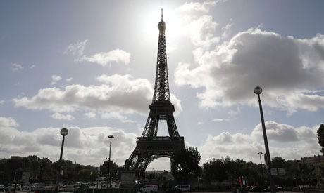 A view of the Eiffel Tower in the French capital Paris (AFP)