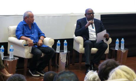 Naguib Sawiris and Forest Whitaker