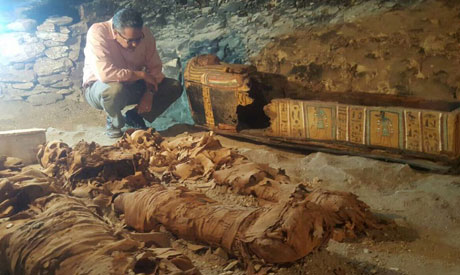 Newly unearthed ancient tomb with mummies unveiled in Egypt