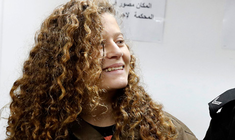 Sixteen-year-old Ahed Tamimi (AFP)