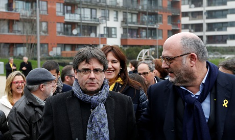 Catalan separatist Carles Puigdemont poised to be sworn in from Belgian haven