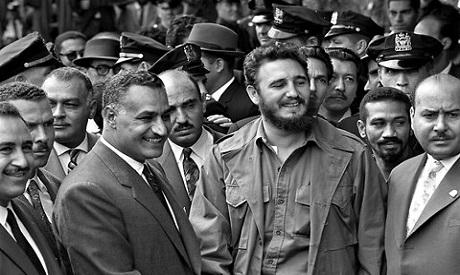 Nasser and Castro at The UN, 1960