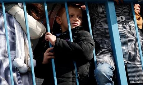 A Palestinian schoolboy