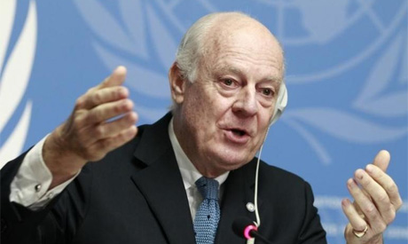 Envoy of the Secretary General for Syria Staffan de Mistura speaks
