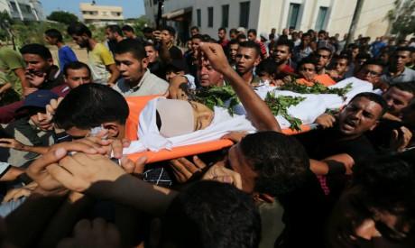 Funeral of Palestinian boy Nassir al-Mosabeh
