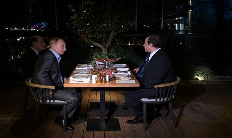 El-Sisi have dinner with Putin