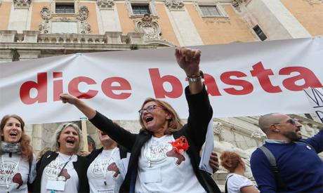 Protesting in Rome