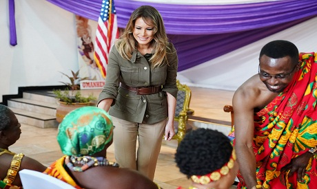 Melania Trump Says Visit To Former Slave Trading Fort Was 'Very Emotional'