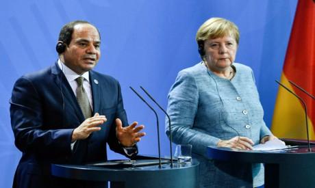Abdel Fattah El-Sisi, Angela Merkel