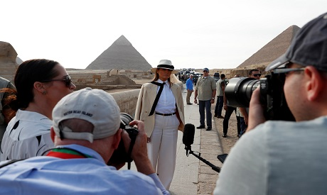 US First Lady in her visit to Egypt
